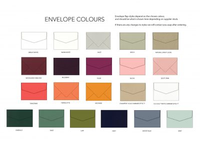 envelope colour options