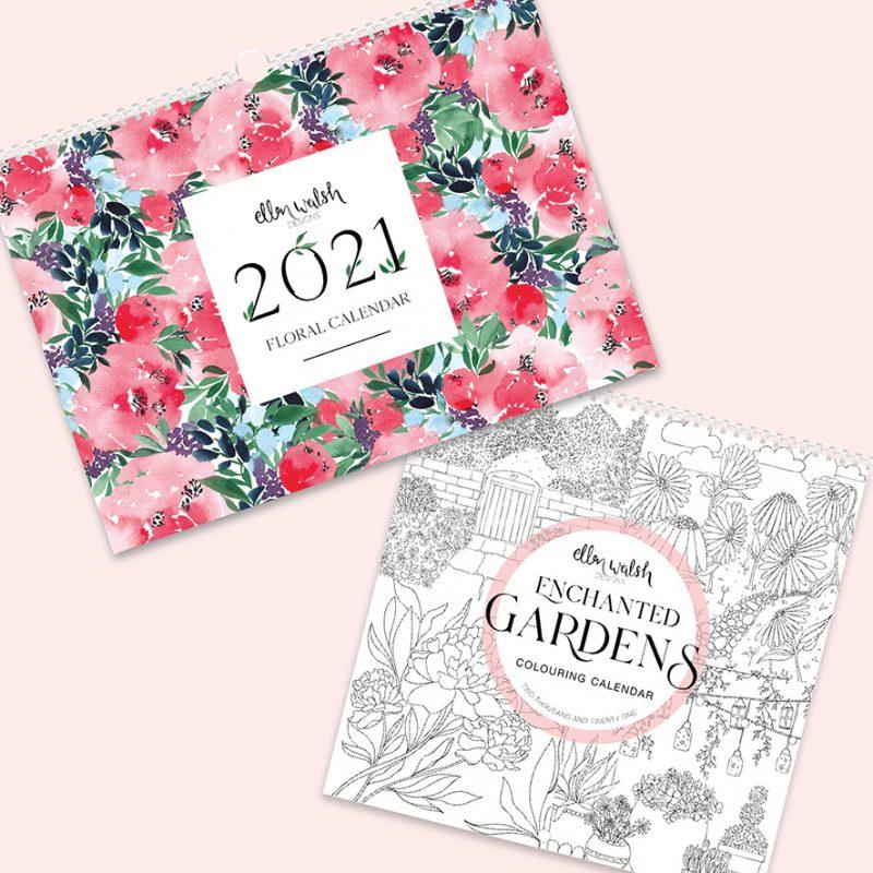 2021 calendar banner ellen walsh designs