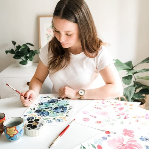 Ellen Walsh designs - Ellen painting